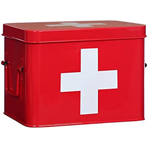 Premier Housewares, Cassetta pronto soccorso, 17 x 22 x 16 cm, Rosso (Red)