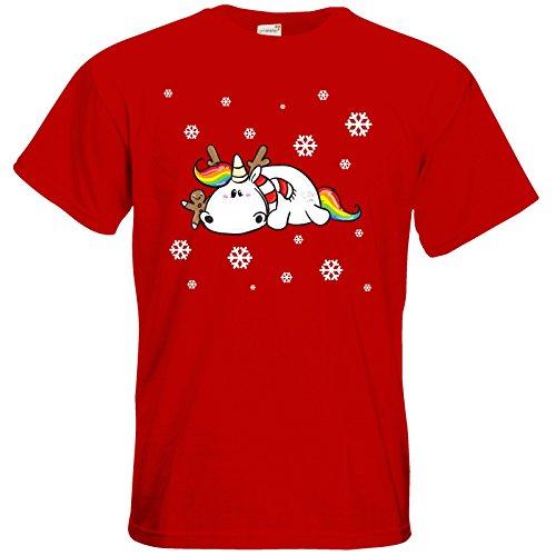 getshirts - Pummeleinhorn - T-Shirt - xmas Red