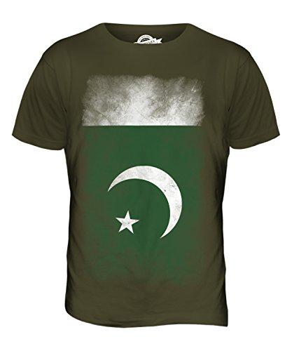 CandyMix Pakistan Verblichen Flagge Herren T Shirt Khaki Grün
