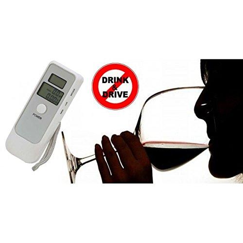 Alcoholímetro prueba de Alcohol lcd portátil de doble pantalla digital con reloj