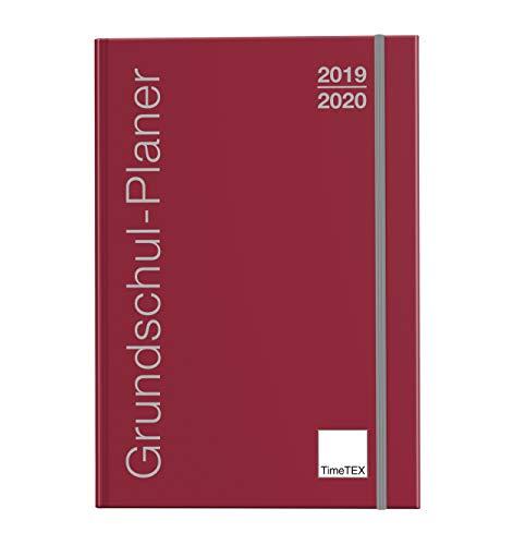 TimeTEX Grundschul-Planer A4-Plus bordeaux - Schuljahr 2019-2020 - Terminplaner für die Grundschule - Lehrerkalender - Schulplaner - 10716 - Neu - mit breitem Verschlußgummi