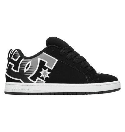 DC Shoes Court Graffik, Chaussures de skate homme Noir délavé