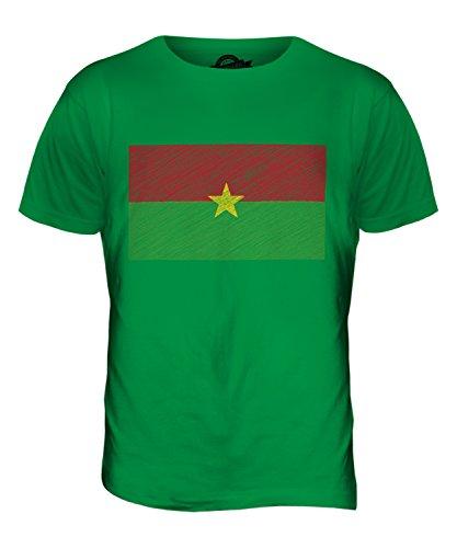 CandyMix Burkina Faso Kritzelte Flagge Herren T Shirt Grün