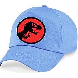 Kids Azul Dinosaurios Sol Tapa Sombrero. Ajustable Talla única.