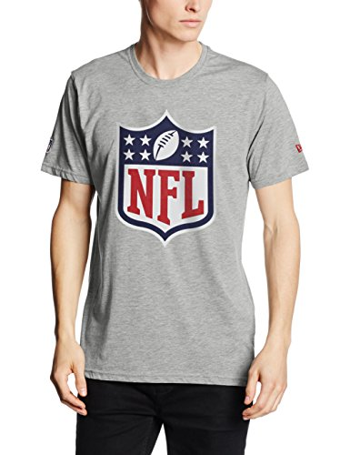 New Era T-Shirt NFL Logo, Gray, L, 11073668 (Era T-shirt Logo)