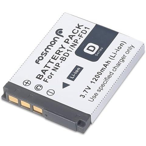 Fosmon remplacement pour Sony Cybershot NP-FD1 (3.7V / 1200mAh) de haute qualité Lithium Ion (Li-Ion / LI) Batterie pour Sony Cybershot: DSC-T2, DSC-T70, DSC-T77, DSC-T200, DSC-T300, DSC-T700