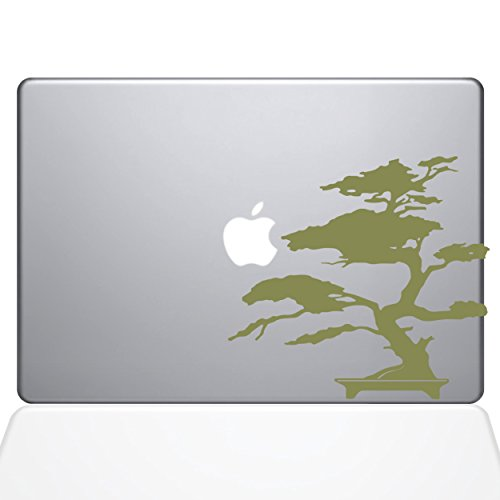 The Decal Guru 2095-MAC-13X-G Bonsai Baum-Aufkleber, Vinyl-Aufkleber, Gold, 33 cm (13 Zoll) MacBook Pro (2016 und Neuer) - Decal Baum Mac