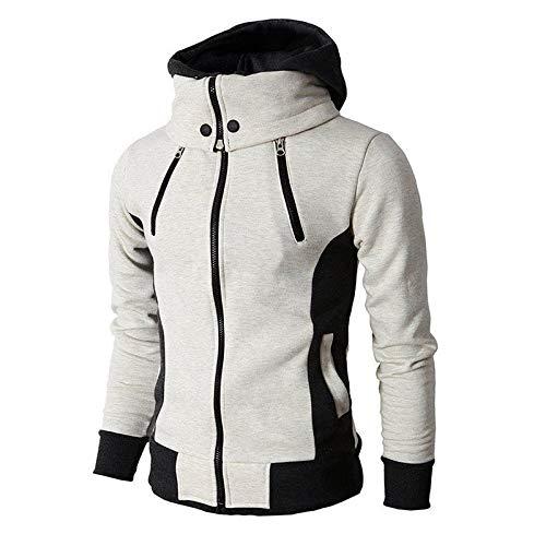 Herren Hoodie,TWBB Warme Mantel Kapuzenpullover Mit Reißverschluss Pullover Outwear Sweatshirt Winter Oberteile Hemd Lange Ärmel