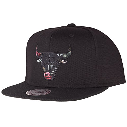 Mitchell & Ness Floral Infill Snapback Chicago Bulls Schwarz, Size:ONE Size