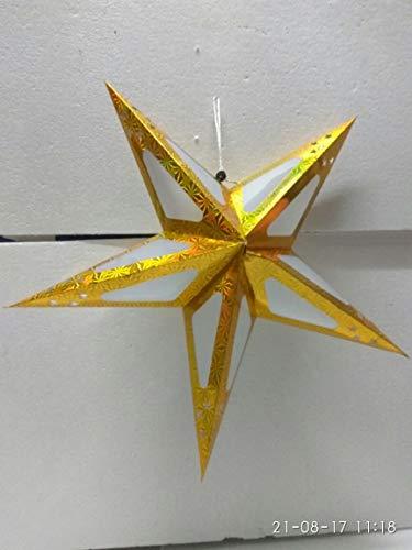 Shreeji Decoration Yellow Star Paper Lantern - 70 g