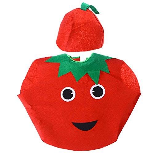 BESTOYARD Kinder Obst Gemüse Kostüm Kinder Tomaten Party Kleidung Kostüme für Halloween Cosplay Weihnachtsfeiertag (Früchte Kostüm Machen)