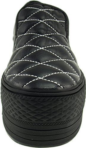 Maxstar  C50-Stitch,  Damen Sneaker Low-Tops TC-Black