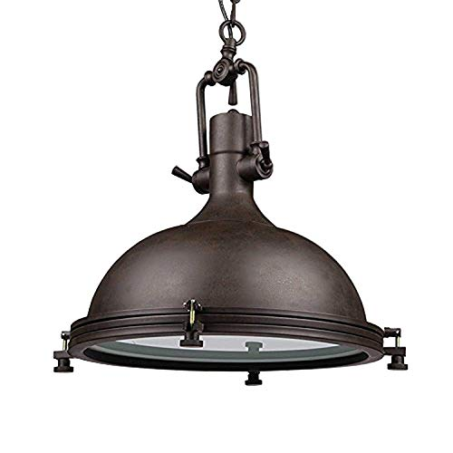 Glighone Lámpara Colgante 40W Lámpara de Techo Luz Industrial Lámpara Vintage Lámpara de Pantalla...