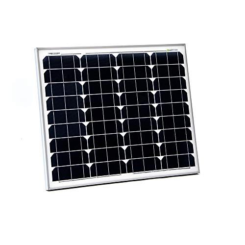 WATTSTUNDE WS50 Mono Solar 12V Solarmodul - Solarpanel monokristallin für Camping Outdoor Wohnwagen (50W)
