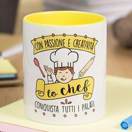 La Mente è meravigliosa -Taza frase y dibujo divertido -'Con pasión y creatividad un cocinero conquista todo paladar' - Regalo original para UN COCINERO