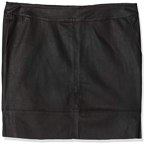 ONLY NOS Damen onlBASE Faux Leather Skirt OTW NOOS Rock, Schwarz (Black), 38 -