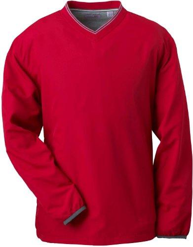 Ashworth Vent T-shirt à col en V pour femme rouge carmin