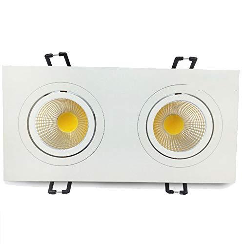 Lecimo Corredor Empotrable LED De Doble Cabeza Cuadrada De 6W Pasillo Empotrado...
