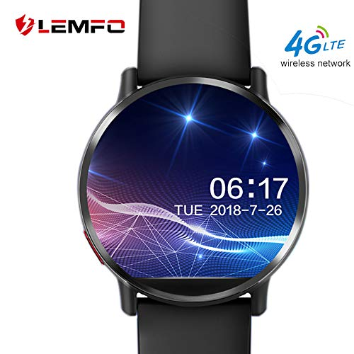 Lemfo Lemx Bluetooth Smart Watch, Android 7.1 dispositivi indossabili fitness tracker Nano Sim sbloccato 4 G Phone Mate con 8 MP fotocamera GPS WiFi 1 GB + 16 GB Smartwatch per Android iOS