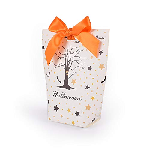Szl Kreative Halloween-Geschenkbox, lustige Farbe, faltbar, 10 Stück