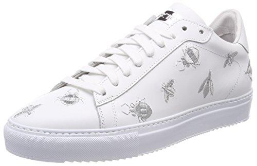 cab5888698f3 Stokton Damen Sneaker Mehrfarbig (White Silver) 39 EU