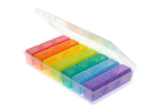 Universelle Box -7 Tage mit je 3 Fächern- Pillendose Medikamentenbox, Tabletten, Dosierer, Organizer
