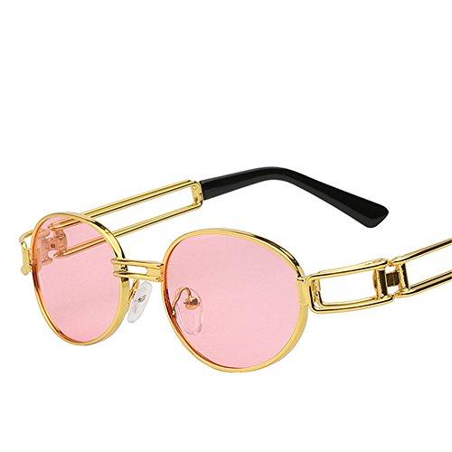 Sonnenbrillen Brillen Vintage Runde Gläser Männer Frauen Angeln Golf Schutzbrille fahren Outdoor Schattierungen schützende Strand Reisen Mode, B