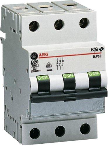 GE Leitungsschutzschalter 3-polig, 63A, C-Charakteristik - GE 230/400V, EP 63 C 63, 566.605