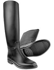Star–Botas de equitación para adultos negro impermeable, talla 39, jinete Botas con sporenhalterung de plástico