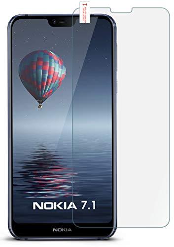 moex 9H Panzerfolie für Nokia 7.1 | Panzerglas Bildschirm Glasfolie [Tempered Glass] Screen Protector Glas Bildschirmschutz-Folie für Nokia 7.1 Schutzfolie