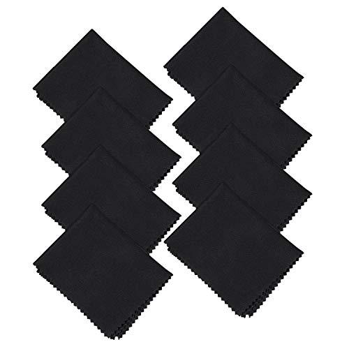 8x Mikrofaser Brillenputztuch, Mikrofasertücher für Mobiltelefone Tablet Laptop Kameralinsen HD-Bildschirme 20x20 cm