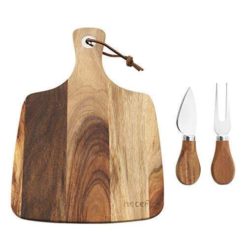 Hecef Set de Tabla y Cuchillos para Cortar Queso