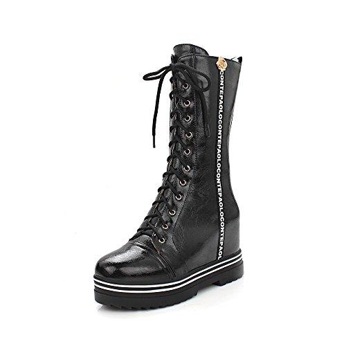 Guoar , chaussures compensées femme Noir