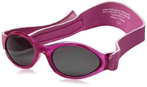 Baby Banz - Lunette de soleil ABBPI Ovale - Fille, Pink