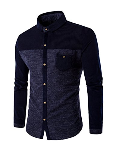 thinkmax-men-weave-thermal-long-sleeve-shirt-navy-blue-xl