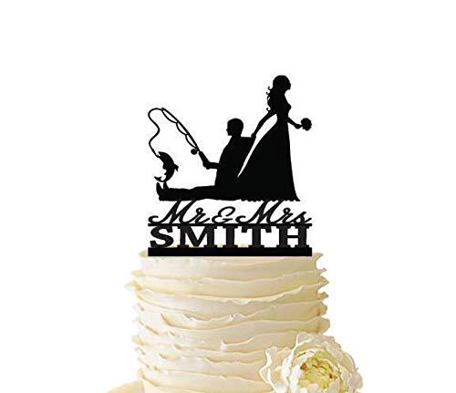 Adornos para tartas personalizados para bodas, cumpleaños, aniversarios y eventos especiales. Podemos personalizar cualquier decoración de pasteles con su nombre, apellido, iniciales, y la fecha de su evento. Está fabricado con acrílico y madera de a...