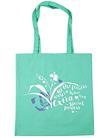 HippoWarehouse All the flowers would have extra very special powers Tote Shopping Gym Beach Bag 42cm x38cm, 10