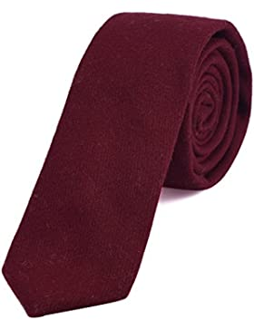 DonDon Corbata estrecha de algodón para hombres de 6 cm a cuadros