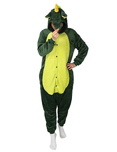 Pyjamas Kostüm Jumpsuit Tier Schlafanzug Flanell Cosplay Karneval Fasching (Pferd) (XL: für Höhe 178-187, (Kostüme Si)