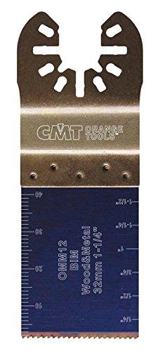 CMT :Lame bi-métal 32 mm plongeante et de coupe à ras / bois - métaux machines oscillantes multi-marques OMM12