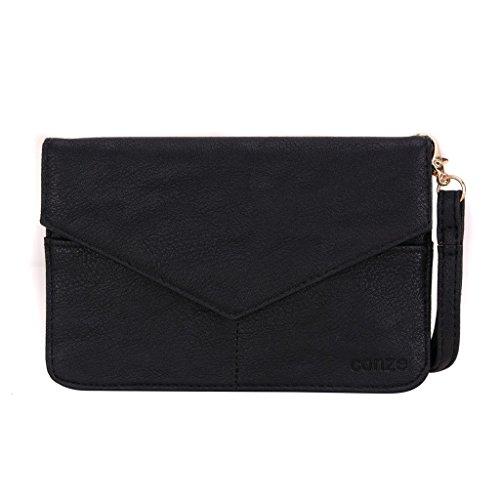 conze de femmes d'embrayage portefeuille tout ce sac avec bretelles pour Smart Téléphone pour Acer Liquid Z500/Z520/Z530/z530s gris noir