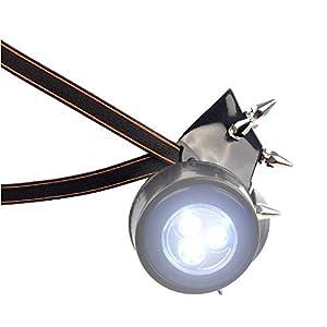 MB-Müller 87336-002-000 - Máscara de gas con pinchos y luz LED, unisex, color negro