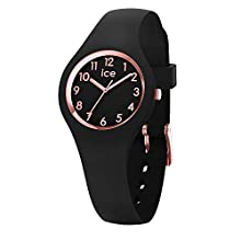Ice-Watch - ICE glam Black Rose-Gold - Women's wristwatch with silicon strap - 015344 (Extra small)