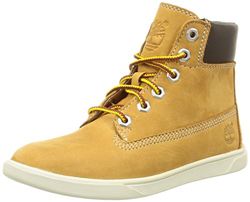 Timberland Groveton 6in, Unisex-Kinder Hohe Sneakers, Beige (Wheat), 25