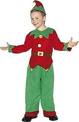 Idea Regalo - SMIFFYS Costume Carnevale Travestimento Elfo di Babbo Natale – bambino 4-12 anni Large