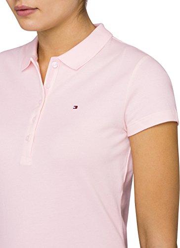 a4ba518dbcb3d4 ... Tommy Hilfiger Damen Poloshirt New Chiara Str PQ Polo SS Rosa  (BALLERINA 680)
