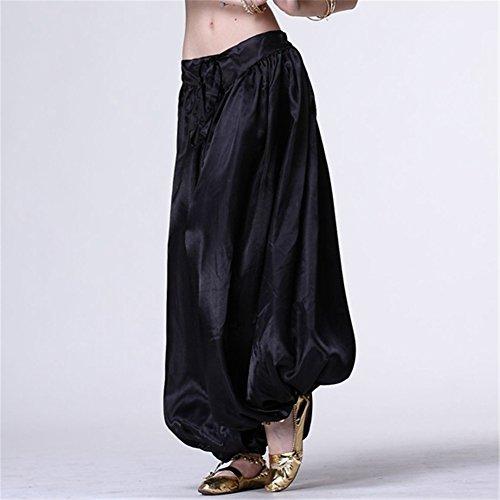 Bauchtanz Hüfttuch Damen Tanzen Kleider Bloomers Bauchtanz Hose Harem Hose Tanzen Costume Black