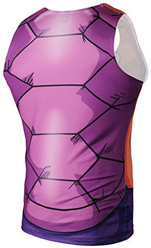 Pizoff Herren Gym Sport Fitness Stringer Trainingsshirt Muskelshirt Tank Top mit Karikatur Druckmuster Y1783-18
