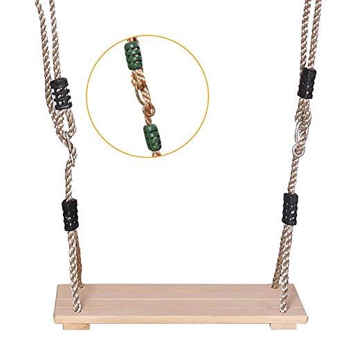 Schaukelsitz, Erwachsene Kinderschaukel Hochwertige polierte Vier-Brett-Holzschutzmittel Outdoor-Indoor-Schaukel Hirtenholz Holzschaukel für noch mehr Schwung, inklusive Seil, höhenverstellbar