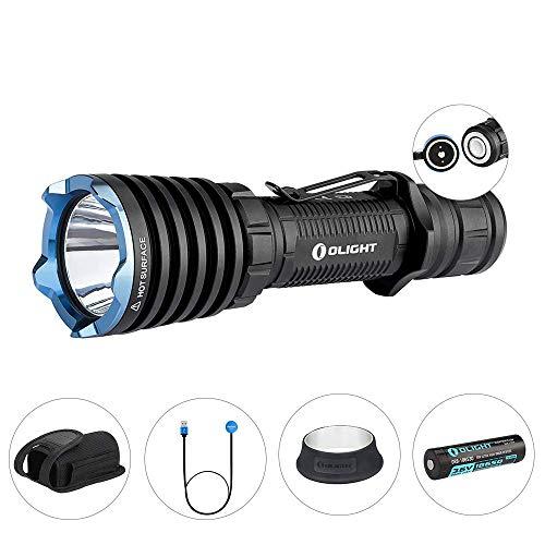 Olight Taschenlampe Warrior X 2000 Lumen, Taktische LED-Taschenlampe, MCC-Magnetladekabel, 18650 3000mAh Batterie enthalten, ideal für Verteidigung und Militär usw.